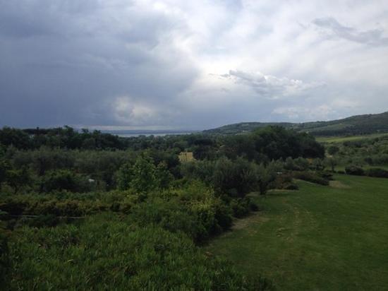 Villa Baroncino: view of the lake from the villa