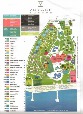 Voyage Sorgun: Map of the complex