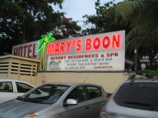Mary's Boon Beach Resort and Spa: Sign at entry