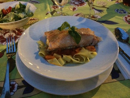 Kaucuk Residence: Salmon with pappardelle.