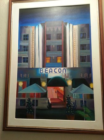 Beacon Hotel : A painting of the hotel, displayed in the staircase
