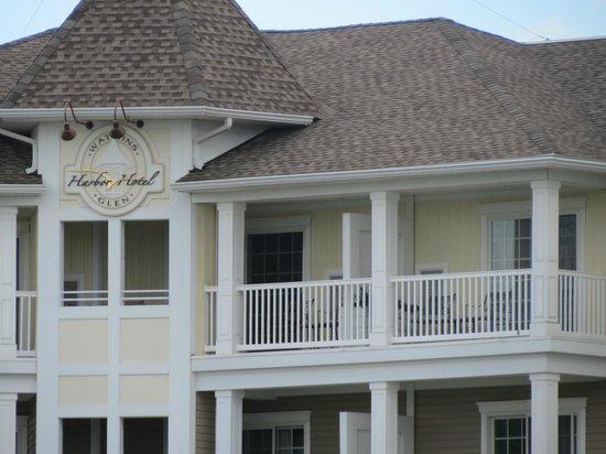 Watkins Glen Harbor Hotel : Our balcony