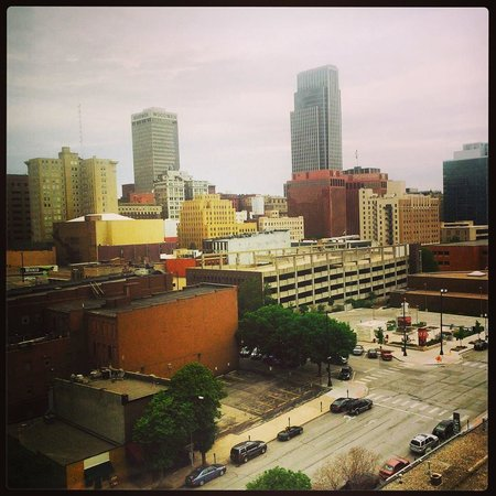 Hyatt Place Omaha Downtown Old Market: View of Omaha from our room