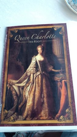 Queen Charlotte Tea Room : menu front page