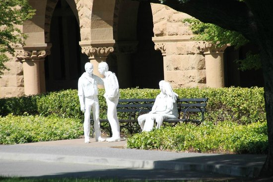 Stanford University: Copy of the gay group statue from NYC