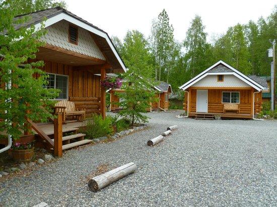 Denali Fireside Cabins & Suites: Outside of cabin