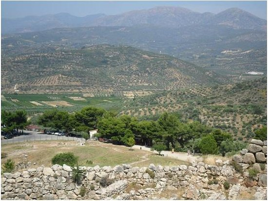 Harmony Hotel Apartments: View from Mycenae - a 2-hour drive from Longos
