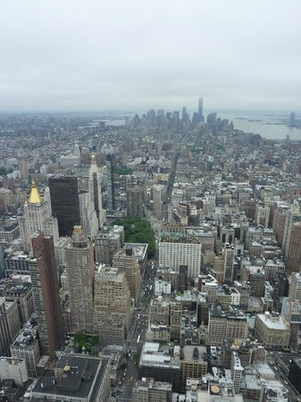 Empire State Building: View of Downtown NY from the Empire State