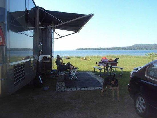 Munising Tourist Park Campground: Living the dream...