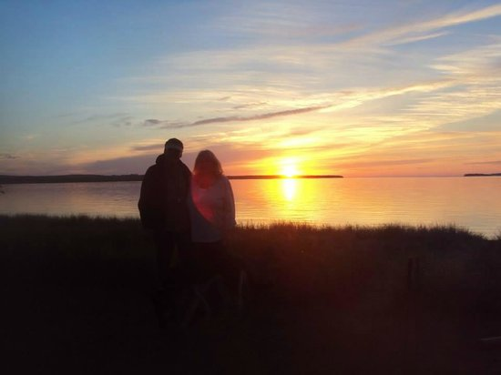 Munising Tourist Park Campground: Beautiful sunsets...
