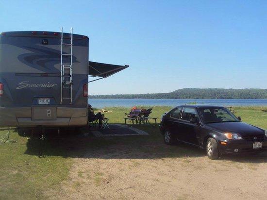 Munising Tourist Park Campground: Our favorite site...