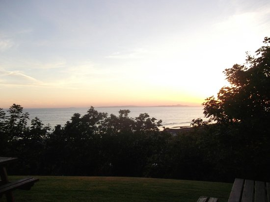 Ty'r Graig Castle: Sunset