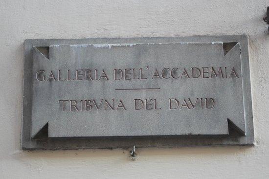 Galería de la Academia: frente