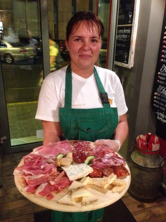 """Divin Porcello - Budapest: The Hams Around the World plate, one of several """"flights"""" of ham!"""