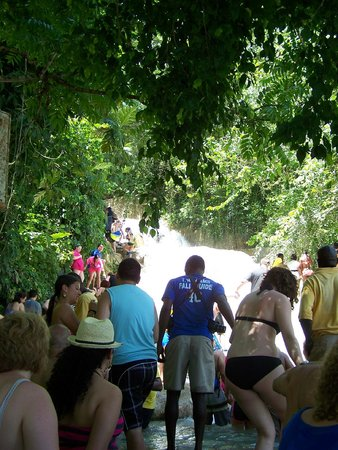 Dunn's River Falls and Park: From the Bottom Looking Up