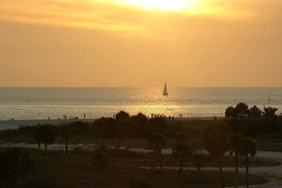 South Beach Condo/Hotel : Sunset from balcony