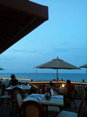 Pietro's on the Ocean: evening view from the bar at Pietros on the Ocean