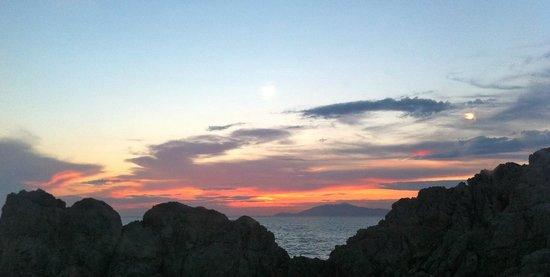 B&B Cala del Rio Isola di Capri: Sunset