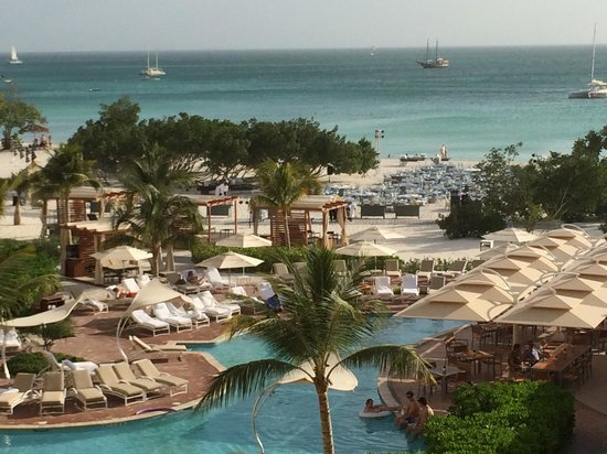 The Ritz-Carlton, Aruba: The view from our room. 2nd floor