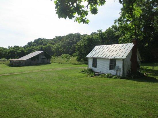 Mayhurst Inn - Orange Virginia - School House cottage with barn at left