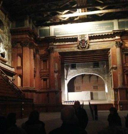 Palazzo della Pilotta : arco scenico sul palcoscenico di 40 m