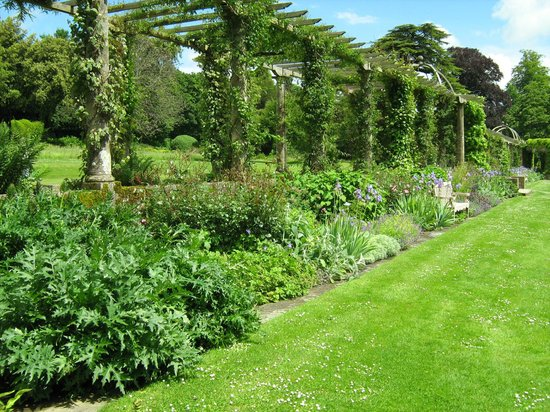 West Dean Gardens: Outside the pergola