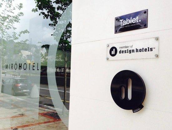 Hotel Miro : Design Hotels sign at the door
