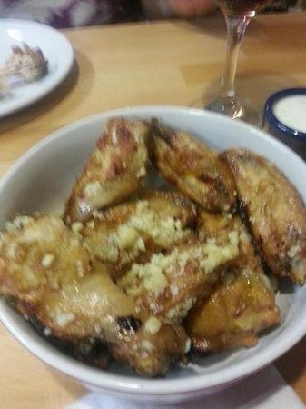 A-Town Pizza: parmasesn garlic wings