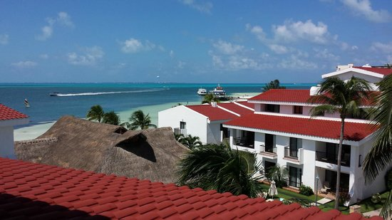 The Royal Cancun All Suites Resort: View from the upper room