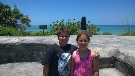 Island Boat Adventures : My kids on top of Fort Dade