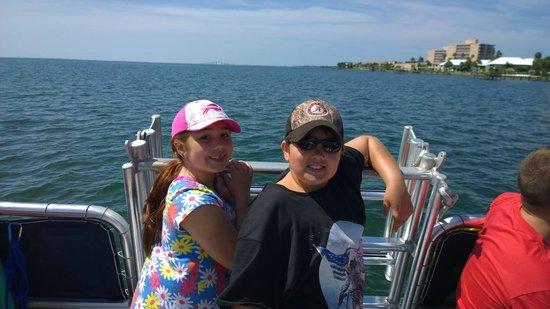 Island Boat Adventures : Kiddos enjoying the ride on Calypso Cat!