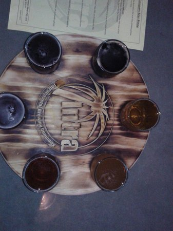 Intracoastal Brewing Company: A sampler. Try this!