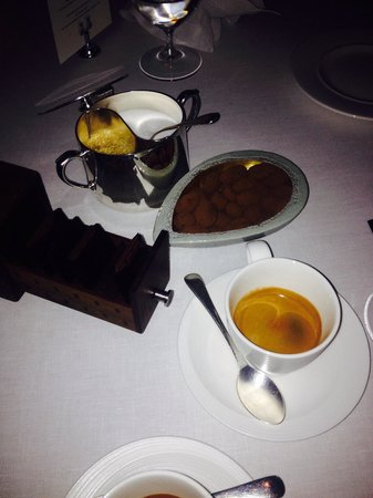 Petrus: Coffee with chocolates...
