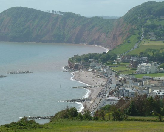 Victoria Hotel: Sidmouth from Salcome Hill