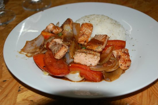Quinoa: Tasty trout dish.