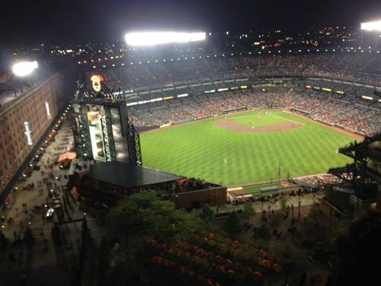 Hilton Baltimore: Baltimore Orioles Stadium from end suite - 8th floor
