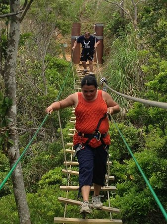 Forest Adventure in Onna : Fun in the obstacle course