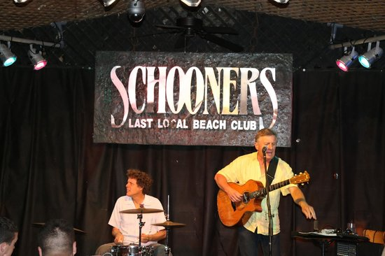 Schooners : Two piece band playing the night we were there