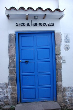 Second Home Cusco: The B&B blue entrance door.
