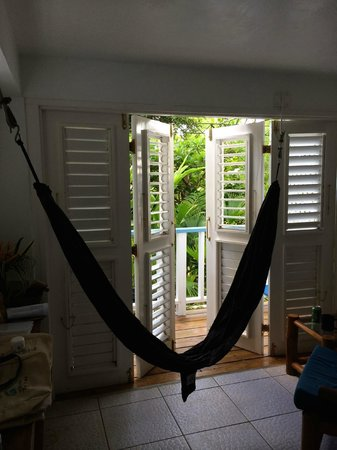 Hotel Mocking Bird Hill: Hammock in our room