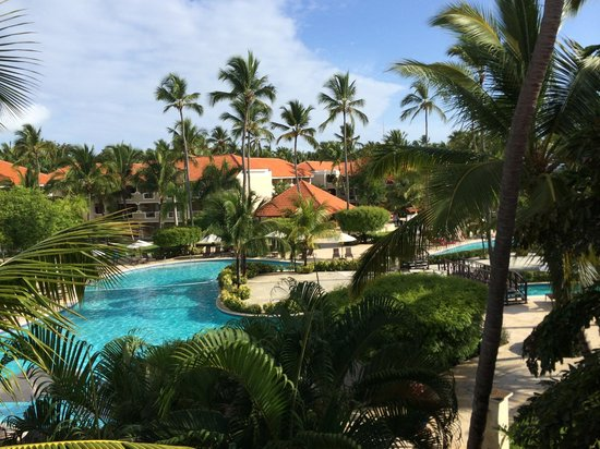 Dreams Palm Beach Punta Cana: View of pool from Building 2