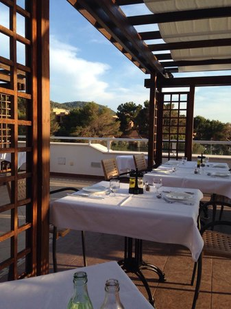 Insotel Tarida Beach Sensatori Resort: Sunset restaurant -beautiful views, lovely food