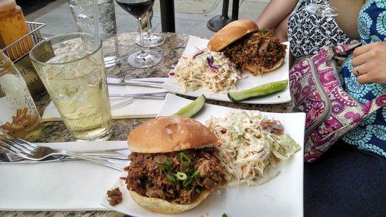 Bounty Hunter Wine Bar & Smokin' BBQ: BBQ pork and brisket