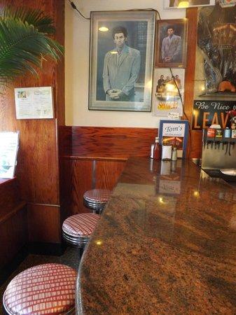 Tom's Restaurant : Inside Tom's at the counter