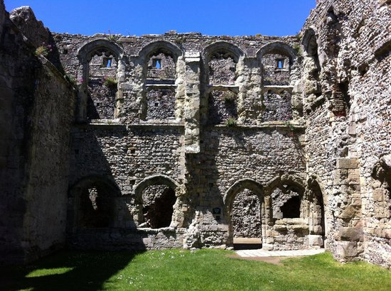 The exterior of Richard II's palace at Portchester Castle