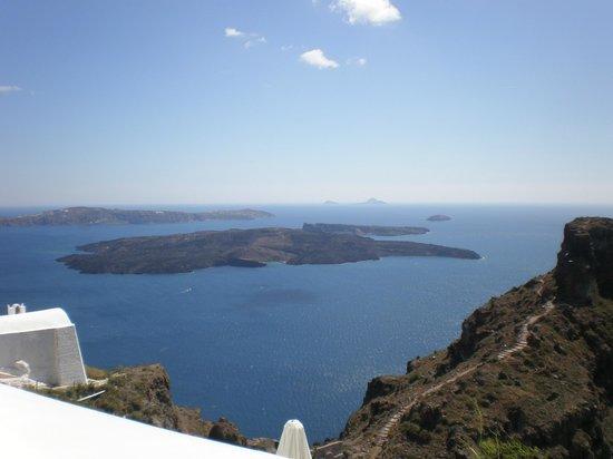 Tholos Resort: Vista desde el balcón de mi habitación