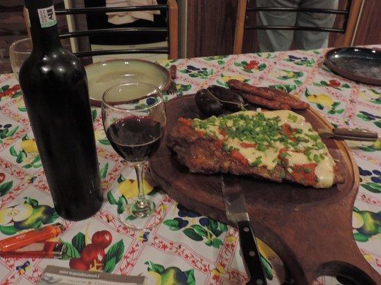 Finca Ogawa: Matambre a la pizza. Riquisimo !!!