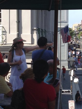 Tastebud Tours Food Tours: Balcony at Jackson Square