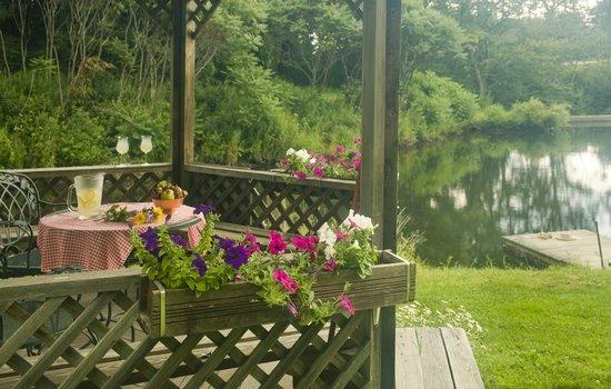 Quiet summer vacation destination in Vermont. Walking trails at Rabbit Hill Inn.