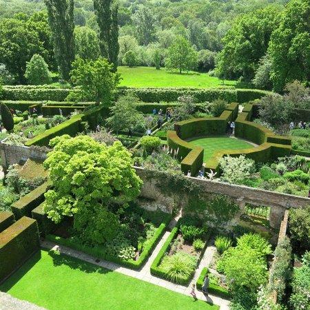 Sissinghurst Castle Garden: Gardens viewed from the tower